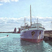 Southampton Docks Ss Shieldhall Ship Art Print