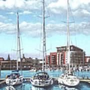 Southampton Ocean Village Marina Art Print