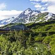 Southbound Alaska Railroad  Art Print