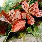 Southern Azalea In New Orleans Art Print