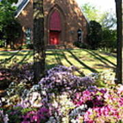 Southern Church In Bloom Art Print