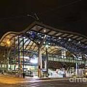Southern Cross Rail Station In Melbourne Australia Art Print