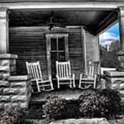 Southern Front Porch 1 Art Print