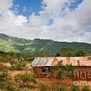 Southern Kenya Poverty Landscape Art Print