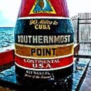 Southern Most Point Art Print