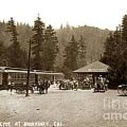 Southern Pacific Depot At Brookdale Santa Cruz Co. Cal. Circa 1910 Art Print