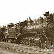 Southern Pacific Steam Locomotives No. 2847 2-8-0 1901 Art Print
