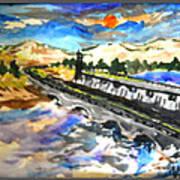 Southern River Dam Art Print