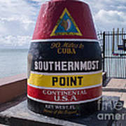 Southernmost Point Marker Art Print