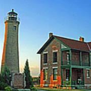 Southport Lighthouse On Simmons Island Art Print