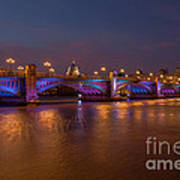 Southwark Bridge Art Print by Pete Reynolds