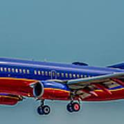 Southwest 737 Landing Art Print
