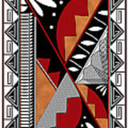 Southwest Collection - Design Seven In Red Art Print