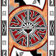 Southwest Collection - Design Six In Red Art Print
