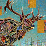 Southwestern Elk Art Print by Bob Coonts