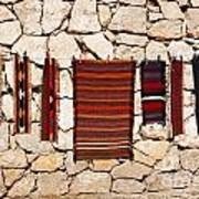 Souvenir Rugs For Sale At Wadi Mujib Jordan Print by Robert Preston