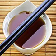 Soy Sauce With Chopsticks Art Print