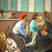 Soyer's A Railroad Station Waiting Room Art Print