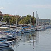 Sozopol Harbour Bulgaria. Art Print
