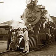 S P Baldwin Locomotive 2285  Class T-26 Ten Wheel Steam Locomotive At Pacific Grove California 1910 Art Print