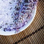 Spa Setting With Lavender Bath Salt Art Print