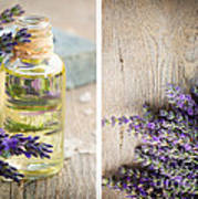 Spa With Lavender  Art Print
