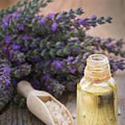 Spa With Lavender Oil And Bath Salt Art Print