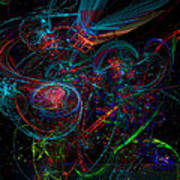 Space Junk Mental Energy From Earth Art Print
