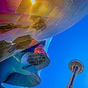 Space Needle And Emp In Perspective Hdr Art Print
