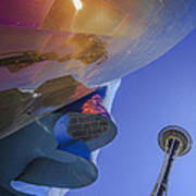 Space Needle And Emp In Perspective Non Hdr Art Print