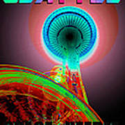 Space Needle Poster Work A Art Print