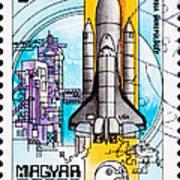 Space Shuttle Columbia Rocket Launch  Art Print by Jim Pruitt