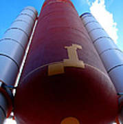 Space Shuttle Fuel Tank And Boosters Art Print