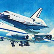Space Shuttle's Last Flight Art Print