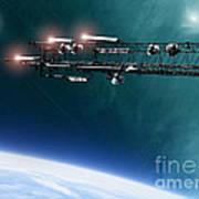 Space Station Communications Antenna Art Print by Antony McAulay