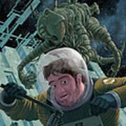 Space Station Monster Art Print