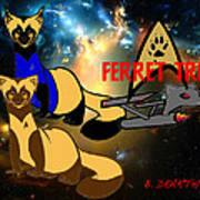 Space The Ferret Frontier  Art Print