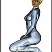 Spacegirl 7... Art Print