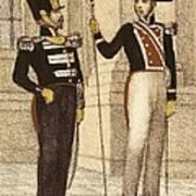 Spain 1833. Royal Guard Infantry Art Print
