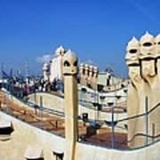 Spain -  Barcelona - Gaudi - Casa Mila Art Print