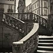 Plaza Stairs In Spain Series 24 Art Print
