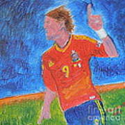 Spain World Soccer Number 1 Art Print