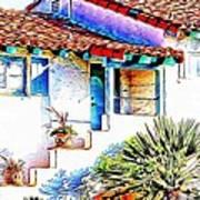 Spanish Bungalow Art Print