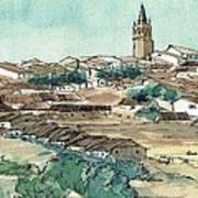 Spanish Church Tower Art Print