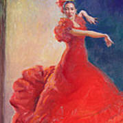 Spanish Flame Art Print by Gwen Carroll
