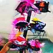 Spanish Town Parade Hats Art Print