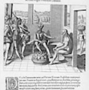 Spanish Traveller Girolamo Benzoni Art Print