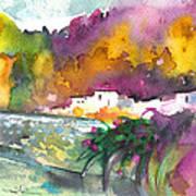 Spanish Village By The River 02 Art Print
