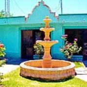 Spanish Water Fountain De San Francisco Conchos Art Print