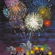 Sparklers Art Print by Cynthia Ring